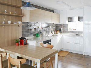 Mẫu nhà bếp kiểu hàn quốc đẹp lung linh